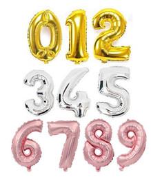 grande stella di natale illuminata Sconti Palloncini di stagnola Numero di nastro d'oro da 32 pollici Decorazioni per feste di compleanno Decorazioni per matrimoni per bambini Palloncini in oro rosa Articoli per feste