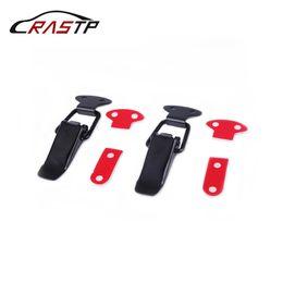 Fechaduras de liberação rápida on-line-RASTP-2 Pcs Universal Bumper Durable Segurança Gancho Lock Clip Kit para o Carro de Corrida Do Caminhão Capa Quick Release Fastener RS-ENL007