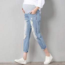 Argentina Pantalones vaqueros de maternidad Pantalones de maternidad Ropa para mujeres embarazadas Pantalones Enfermería Prop Belly Leggings Pantalones vaqueros Ropa de embarazo Pantalones Suministro