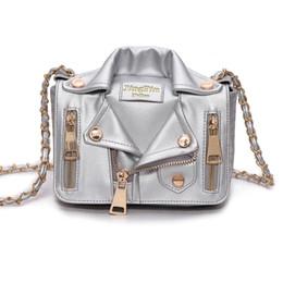 Chaqueta de cadena cruzada online-Nuevo bolso de mujer, cadena europea y americana, bandolera estilo chaqueta, moda, ropa de moda, bolso de mujer T607