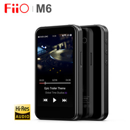 Reproductor de mp3 wifi online-FiiO M6 Hi-Res Bluetooth HiFi Music Reproductor de MP3 portátil USB DAC ES9018Q2C Android con aptX HD LDAC WiFi Air Play DSD
