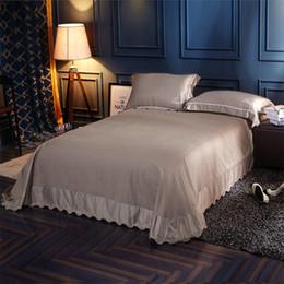2019 cobertor de coberta contornado Folha de seda ultra macia de contagem de rosca 600 somente - Full, Dusty Blue não incluindo fronha de travesseiro