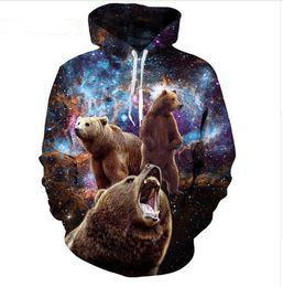 2020 куртки галактики мужчины Горячая Мода Streetwear 3D HD Печати Повседневная Медведь Космос Galaxy Толстовки Толстовки Мужчины Женщины Толстовка С Капюшоном Пальто LMS0109 скидка куртки галактики мужчины