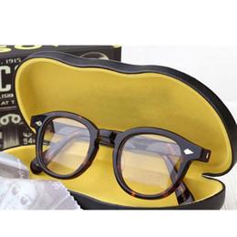 2019 i telai di vetro all'ingrosso di moda Johnny Depp Occhiali Uomini vetri ottici delle donne della struttura di marca di disegno acetato Vintage Computer occhiali trasparenti con la scatola Z080