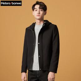 343c9e2f2dcd5 Çin METERSBONWE Hoodies Kış Erkekler Yün Ceket Basit Kısa Palto Kore Gelgit  Ceket Gençlik tedarikçiler