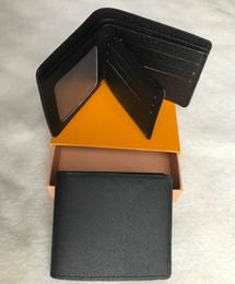 2019 fotos calientes masculinas Mens 2018 nueva bolsa L envío gratis billetera de alta calidad Plaid patrón mujeres billetera hombres pures lujo high-end diseñador s monedero L con caja 88