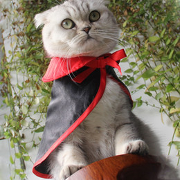 Lenço de gato preto on-line-Cat Dog Halloween Scarf Manto Pet Party Pet Acessórios quentes Xailes Cão do Natal Cosplay Costumes Dress Up Preto pequena capa BH2342 TQQ