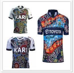 2019 ropa interior negro brillante Camuflaje nativo Vaquero INDIVIDOS Rugby Jerseys 2018 2019 Liga Nacional de Rugby l Jersey COWBOY camiseta indígena s-3XL