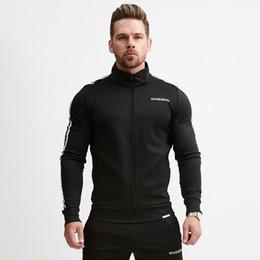Uomo Tuta Sportwear Zip Up Giacca sportiva Felpa + pantalone Maschio Running Jogger Tempo libero allenamento Allenamento Set Tuta sportiva da cucitura di indumenti fornitori