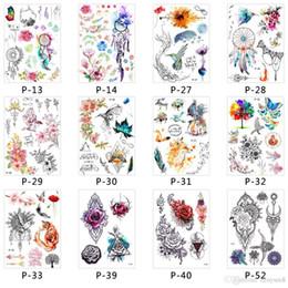 2019 tatuagens falsas diy 3d adesivo à prova d 'água corpo descartável tatuagem temporária Falso Mulheres Homens DIY Henna Corpo Art Tattoo Design Borboleta Árvore desconto tatuagens falsas diy
