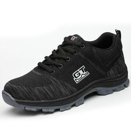 2020 sapatos de segurança casuais Mens sapatos de segurança trabalhando cobertura biqueira de aço design casual segurança, conforto ao ar livre escalada caminhadas ferramental calçado Lazer D07 sapatos sapatos de segurança casuais barato