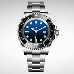 Ángeles cerámicos online-Mens superior 44m Deluxe Reloj de Buceo Océano Ángel 904 Rueda de acero de cerámica 3135 de cuerda automática Sapphire M126660-0002