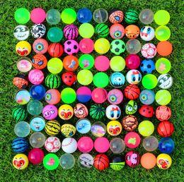 Niños saltando la pelota online-Diámetro 32 mm de goma elástica mixta bola de salto bola hinchable imagen bola que despide para niños Juguetes de descompresión Juguetes de diversión