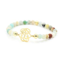 Mode Coloré Brillant Amazonite En Acier Inoxydable Creux Bracelets Pour Hommes Femmes Garçons Filles Chakra Bracelet Chanceux Bijoux ? partir de fabricateur