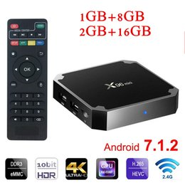 wifi hot box Promo Codes - Hot Android box X96 mini S905w 2GB 16GB WiFi Lan 4k ultra smart tv Cutsom Logo television 4k 2.4G wifi Media player