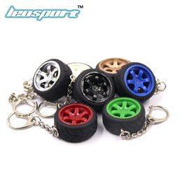 car nos Coupons - plastic RIM wheel keychain Car wheel Nos Turbo keychain key ring metal with Brake discs T37