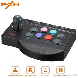 PXN 00082 Juego de arcade Joystick para PS4 para Xbox One Control USB Arcade Stick Rocker para PC Zero Delay Joostick Arcade desde fabricantes