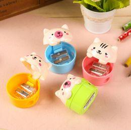 nouveauté mini taille-crayons coloré meuleuse avec gommes à effacer brosse pour bureau école filles fournitures machine taille-crayon ? partir de fabricateur