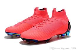 Argentina Rosa 100% botas de fútbol originales Mercurial Superfly VI 360 Elite FG exterior zapatos de fútbol de los hombres de calidad superior al por mayor de fútbol Cleats Suministro