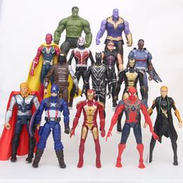 Brinquedos feitos pelo homem on-line-Figuras de ação Os Vingadores 3 feitos à mão 14 esquadrões Hulk Homem De Ferro Capitão América Red Spiderman Hulk crianças brinquedos