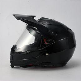 Motocicleta de pintura de carreras online-Pintura al carbono Casco integral para motocicleta Casco de carreras Motocross Off Road Casco De Moto Motociclista Aprobado por el DOT
