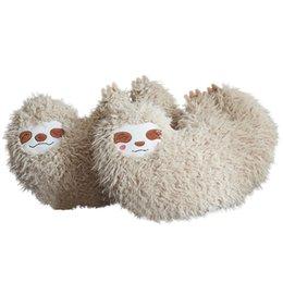 sloth toys Promo Codes - 35*40cm Soft Furry Toy Children Sloth Pillow Love Heart Shape Cute Sloth Cushion Stuffed Plush Toy Gifts For Kids