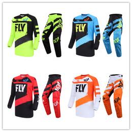 combos de pesca com mosca Desconto Fly Fish Calças Jersey Combos Motocross MX Terno De Corrida Da Motocicleta Moto Da Sujeira MX ATV Engrenagem Set
