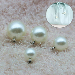 100 pezzi 6-18mm abiti da sposa pulsante bianco perla rivetti artigianato testa decor acrilico rivetto pantaloni cappello borsa scarpe da