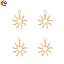 Fascini a forma di mano online-Commercio all'ingrosso 100 Pz 15 * 19 MM Accessori di gioielli / Orecchino Connettori / Sun Flower Shape / Pendenti Charms / Fatto a mano / Risultati Orecchino