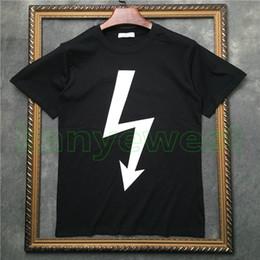 2019 arrow camicie 2019 Hot Europe Mens di lusso freccia lampo stampa magliette Hip Hop di alta qualità Cool T-shirt vestiti di cotone Casual Designer T Shirt