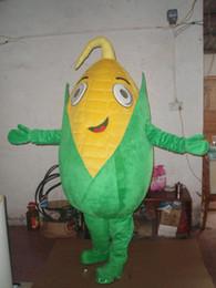2019 maiskostüm 2019Green corn Maskottchen Kostüme Animiertes Thema Maisernte Cospaly Cartoon Maskottchen Charakter Halloween Karneval Party Kostüm günstig maiskostüm
