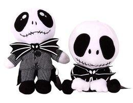 Estilos do jaque on-line-20 centímetros O Estranho Mundo de Jack Natal Crânio Plush Toy 2 estilos Crânio Jack Stuffed Boneca Christmsa caçoa o presente EEA616