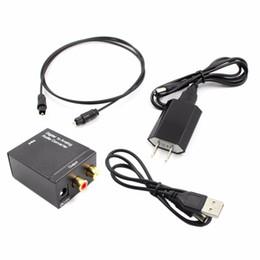 2019 stereo ottico Cavi Cavi audio video Convertitore audio digitale analogico Adattatore Toslink ottico coassiale R / L Coassiale ottico digitale ad analogico RCA stereo ottico economici