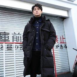 Tcyeek Plus Size Coat Hiver Hommes Marque chaud 90% duvet de canard Veste 2019 coréenne long et épais Manteau Parkas Hiver Pardessus 981071
