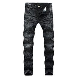 Jeans strappati strappati da uomo Fashion Designer Jeans da motociclista da motociclista dritto Pantaloni da denim di Fazione Streetwear Jeans taglia 28-40 da