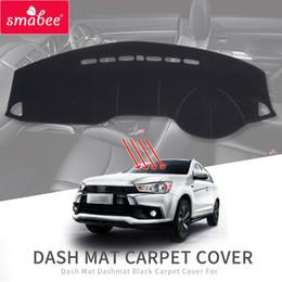 accesorios asx Rebajas Smabee esterilla de amortiguación para Mitsubishi ASX RVR 2011 ~ 2018 Outlander Sport cubierta del salpicadero Negro alfombra del coche del tablero de instrumentos accesorios interiores