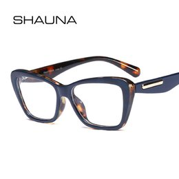 4762d7eb7b SHAUNA Spring Hinge Retro Cat Eye Eyeglasses Frame Women Resin Lens Optical  Glasses eyeglass spring hinge on sale