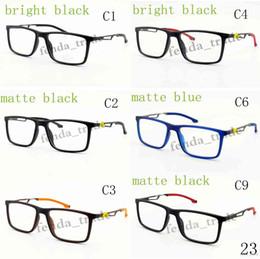 óculos materiais Desconto Nova moda óculos de armação, peso leve simples quadros ópticos mulheres homens óculos de óculos óculos de sol TR90 material ultra-leve