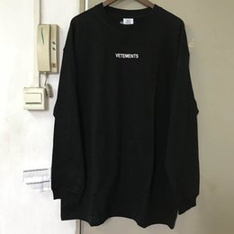 Oversized homens camisa branca t on-line-Luva Loog Bordado T Shirt Vetements Homens Mulheres Oversized Hip Hop Cotton Street Wear Vetements Black Red White camisetas MX200508