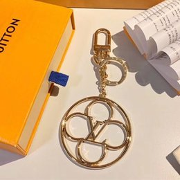 2019 pequenas lanternas de plástico Moda Paris Mostrar Designer de luxo Keychain Vogue Leopard Print Circular Anel Rodar bonitas cadeias saco de carro Ouro-chaves para melhores presentes