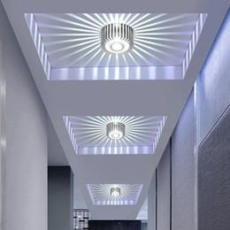 Lâmpadas de galeria on-line-Moderna LEVOU Luz de Teto 3 W CONDUZIU o Ponto RGB Downlight Wall Sconce Galeria de Arte Decoração Varanda Da Frente Da Varanda Corredores de Luz Da Varanda