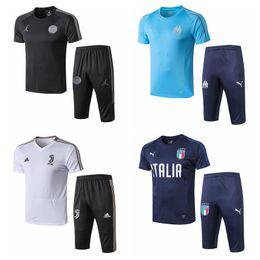 Спортивная италия онлайн-19-20 Новая Италия Париж Марсель ФК Милан Juventuus футболка с коротким рукавом футболка Тренировочный костюм спортивная майка # 55513