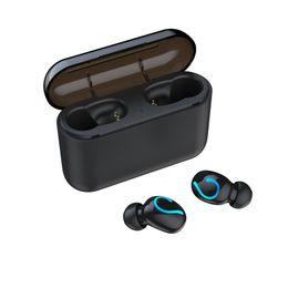 fones de ouvido de óculos de sol Desconto Q33 bluetooth 5.0 fone de ouvido fone de ouvido do telefone celular com banco de potência mini fone de ouvido sem fio estéreo esportes sem fio edr handsfree gaming mic microfone fone de ouvido