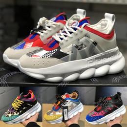 2019 zapatos de diseñador de lujo Reacción en cadena zapatos casuales Negro malla blanca de cuero plana de cuero para hombre para mujer moda zapatillas 5-11 desde fabricantes