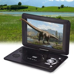 2019 dvd recargable 13.9inch Reproductor de DVD Batería recargable para coche CD Mini pantalla giratoria LCD TV Juego HD Hogar USB Portátil al aire libre dvd recargable baratos
