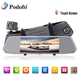 Argentina Podofo Full HD 1080 P Espejo retrovisor Car Dvr Stream dash Cámara 7