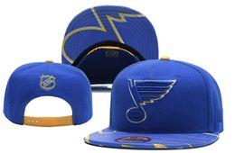 2019 i tappi a snapback blu New Hockey League St. Louis Blues berretti uomo donna Cappelli Cappelli regolabili Cappellini snapback da baseball di alta qualità da baseball 1000+ stili