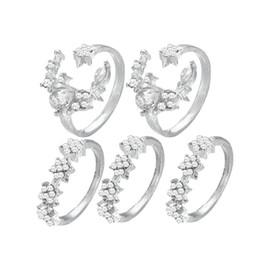 Набор из 5 шт. новая мода Cross Border взрывоопасные бриллиантовое кольцо женский ретро Звезда Луна Кристалл совместное кольцо от Поставщики звездообразное кольцо