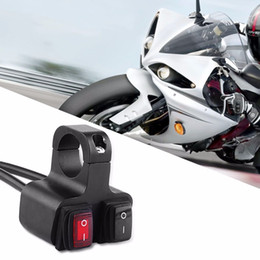 Interruptor de faro bmw online-Freeshipping 12V 16A CNC Motocicleta De Aluminio Moto Manillar HeadLight Spotlight On Off Dual Switch