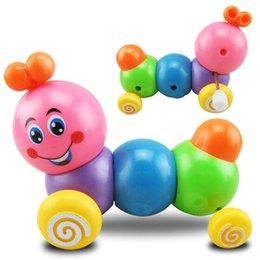 jouets en plastique de chenille Promotion En plastique coloré Caterpillar insecte Vintage Wind Up Jouets Mécanique Running Jouet pour enfants Bébé Jouet Éducatif
